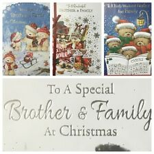 "BROTHER AND FAMILY CHRISTMAS CARD 5.5""X7.5""  (XMAS3)"