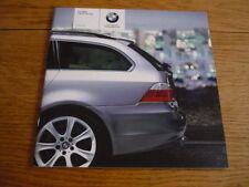 BMW 5 SERIES TOURING PRICE LIST SALES BROCHURE SEPT.2005