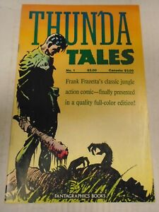 Fantagraphics THUN'DA TALES #1 (1987) Roger Drum, Gardner Fox, Frank Frazetta