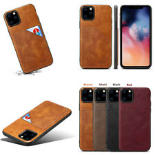 Case Leather Wallet Card Holder Phone Back Cover For iPhone 11 SE 2020 7 8 Plus