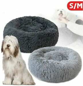 Faux Fur Donut Cuddler Pet Bed Soft Comfy Warm Nest for Medium/Small Dogs Cat