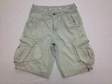 AMERICAN EAGLE LONGBOARD OFF WHITE CARGO SHORTS ACTUAL SZ 30W Tag 28 BEST SH343