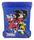 Animated Transformers Drawstring backpack Sport Gym Bag for Kids - Blue