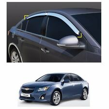 Sun Chrome Side Window Visor Vent Guards Rain for Chevrolet Cruze 2008-2014
