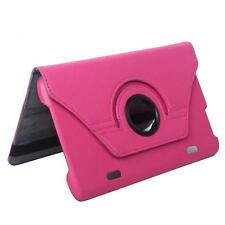 "Cover Rotate for LG G Pad 8.3"" V500 Tablet 360 Folio Leatheroid Stand Case rose"