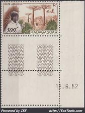 MADAGASCAR POSTE AERIENNE N° 73 NEUF **/* EN COIN DATÉ DU 18/06/1952