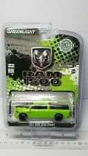 1/64 GREENLIGHT 2017 RAM 1500 SPORT TRUCK GREEN & BLACK B5