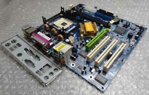 Genuine Gigabyte GA-8I848PM Socket LGA478 Motherboard / System Board W Backplate