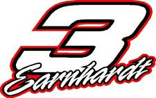 3 Dale Earnhardt Nascar racing decal sticker