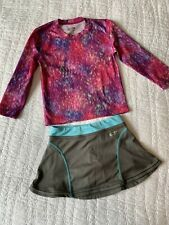 EUC Champion Girls Size XS 4-5 Outfit Top Skirt Skooter