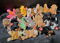 Lot of 18 Ty Beanie Babies Different Original From 90's 2-daisy roam twigs &more