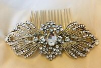 'Scarlett' Art Deco Vintage Style Crystal Bridal Hair Comb 1920's Wedding