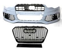Für Audi A7 4G 11-14 RS7 -Look Frontstoßstange + Wabengrill Grill Auspuffblende