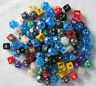 Bulk MISPRINT Plastic Dice Over 1/2 a Pound! Assorted Sizes Colors RPG die lot.