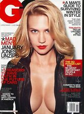 JANUARY JONES Mad Men GQ Magazine November 2009 11/09 D-3-1