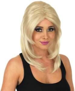 Ladies Long Blonde Super Model Glamour Fantasy Fancy Dress Wig