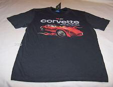 Chevrolet Chevy Corvette Mens Grey Printed T Shirt Size S New