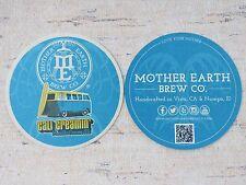 Beer Bar Coaster ~*~ MOTHER EARTH Brew Co Cali Creamin' Ale ~ Vista, CALIFORNIA