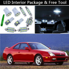 8PCS Bulbs White LED Interior Lights Package kit Fit 1997-2001 Honda Prelude J1