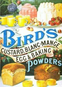BIRD`S POWDERS LARGE VINTAGE METAL TIN SIGN KITCHEN CAFE WALL ART PLAQUE