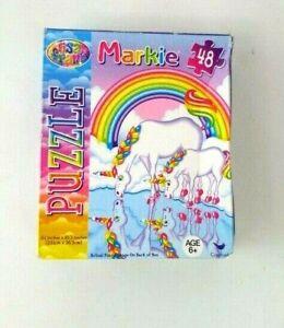 Lisa Frank Jigsaw Puzzle Markie Unicorn Jigsaw Puzzle 48 Pieces NEW