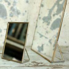 Free Standing Kiko Brass Mirror Nkuku 18 x 13cm, Dressing Table Vanity Gold