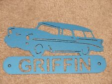 56 CHEVY NOMAD METAL HOME ADDRESS SIGN STEEL WALL DECOR
