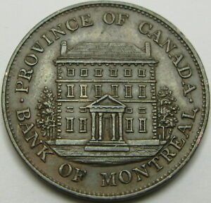 QUEBEC (Canadian Provinces) 1/2 Penny 1844 - Copper - VF/XF - 1045 ¤