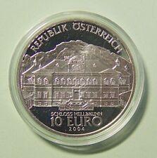 Österreich - 10 Euro 2004 PP - Schloss Hellbrun - 925er Silber/AG