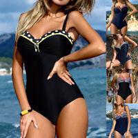 Women's One Piece Monokini Push Up Padded Bra Bikini Swimsuit Swimwear Bathing
