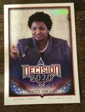 2020 Leaf Decision Bench Warmer Preview Stacey Abrams /10 Pack Fresh