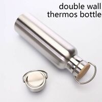 Stainless Steel Thermos Water Bottles Double Wall For Traveling Camping & Hiking