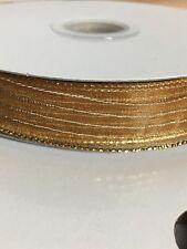 1 Yard Corsage Ribbon 5/8� Gold Sheer Ribbon Sold By The Yard