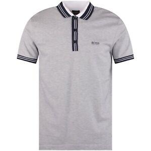 Hugo Boss Paddy 2 Golf Polo - White / Navy - XL - RRP £89