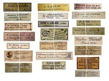 V115 Old Vintage Antique Violin Fiddle Maker Set of 21 Labels NICE!