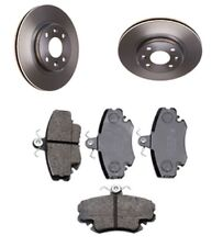 Brake Pads and Discs x2 Set Front for Renault Clio MKII Box 1.5 dCi 1.9 D 99-12