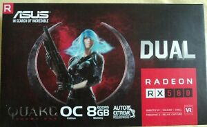 ASUS Radeon RX 580 8GB OC GDDR5 DP HDMI DVI VR Ready AMD Graphics Card NIB