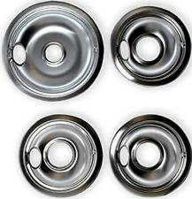 Chrome Drip Pan Range Kleen 10124XZ Whirlpool W10196405 W101964 set of 4 NEW