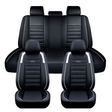 Universal Full Car Seat Covers 5-Seats PU Leather for Truck SUV Sedan