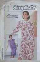 UNCUT Vintage Simplicity Pattern Dress 7550 14 SEWING