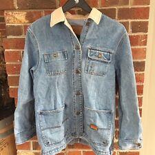 Ralph Lauren Vintage Women's Denim Jean Barn Jacket Safari Outfitters Sz Medium