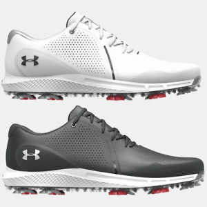UNDER ARMOUR 2021 MENS UA CHARGED DRAW RST WATERPROOF WIDE FITTING GOLF SHOES