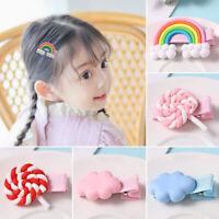 KE_ Kawaii Hairpin Baby Girl Hair Clip Lollipop Cloud Candy Barrettes Headwear