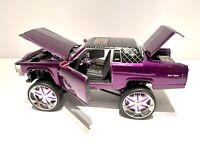 Jada 1985 Cadillac Broughman Purple Donk 1:24 Scale Die Cast Car Rare READ DESC.