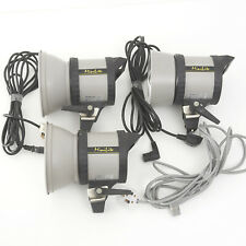 THREE ELINCA MINILITES WITH REFLECTOR DISHES 200/240V, 50Hz 550VA + power cables