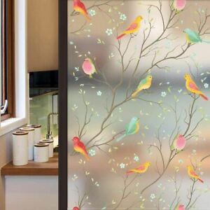 Bird Privacy Window Film Glass UV Protector Static Frosted Stained Sticker Decor
