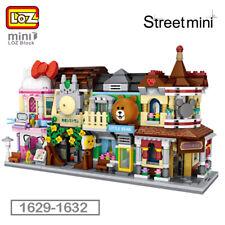 LOZ City Street Make-up Shop Restaurant Supermarket DIY Mini Blocks Building Toy