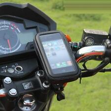Motorcycle Bike Handlebar Holder Mount & Waterproof Bag Case For Cell Phone