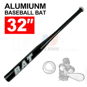"32""81cm Aluminium Baseball Bat Racket Defense Safety Sports OZ Black Lightweight"