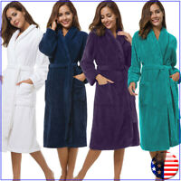 SIORO Women Robe Soft Fleece Bathrobe Thick Terry Long Sleepwear for SPA Shower